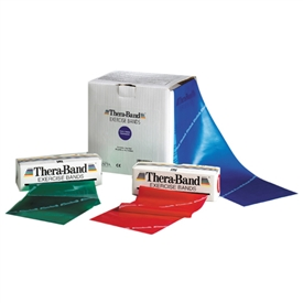 Thera-Band Latex Free Exercise Bands - 25 Yard Lengths