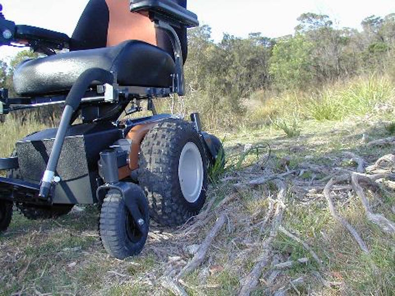 V6 frontier off road powerchair all terrain electric for All terrain motorized wheelchairs