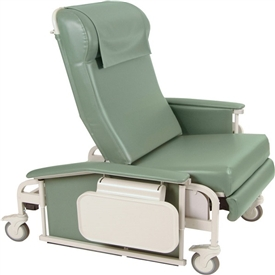 Winco 6570 XL CareCliner Drop Arm Chair, Nylon Casters