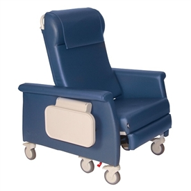 Winco 6950 XL Dual Swing-Arm Elite Care Cliner, Nylon Casters