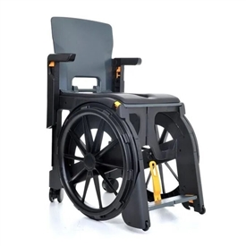 Travel Pal WheelAble Commode & Shower Chair Commode or shower chair with wheels, easily folded for travel