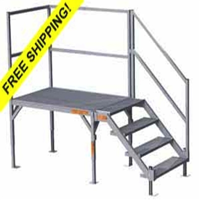 Fortress Osha Stair Systems Portable Aluminum Stairs