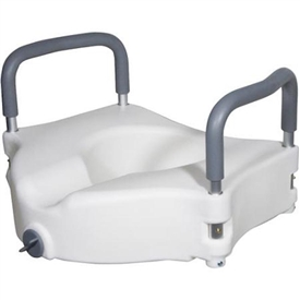 Drive Medical Elevated Raised Toilet Seat with Removable Arms