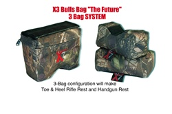 #90003-X3 BULLS BAG Shooting Rest (3 Bag Set) (Filled)