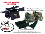 RMEF #0007-X7 BULLS BAG Shooting Rest Complete  SYSTEM (7 Bag Set) (Unfilled)