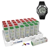 31 Day Low Profile Monthly Pill Organizer and Personal Reminder