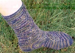 Tumbling Triangles Sock Pattern
