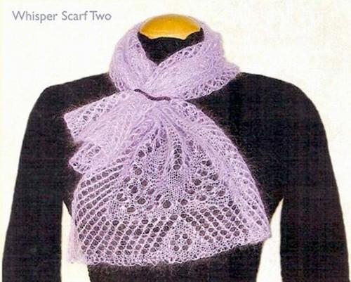 Knitting Pattern For Whisper Scarf : The Whisper Scarves