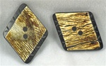Rhombus shaped natural Horn Button