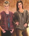 Dune Striped Asymmetrical Cardigan or Vest Trendsetter Pattern 3340