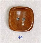Square Wood Button 44