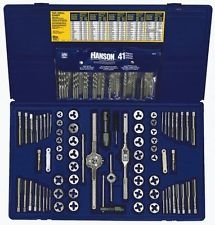 Irwin Hanson 117 pc. Fractional/Metric Tap, Die & Drill Bit Deluxe Set AHN-26377