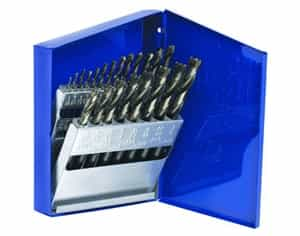Hanson 21 Piece Turbomax® Fractional Drill Bit Set Metal Index - AHN-73149