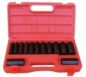 "ATD Tools 1/2"" Drive 13Piece 6-Point Deep Impact Socket Set ATD-4401"