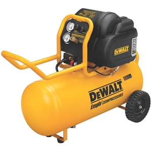 DeWalt D55167 1.6 HP 15 Gallon Oil-Free Wheeled Workshop Air Compressor - DWT-D55167