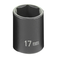 "Grey Pneumatic 3/8"" Drive 17mm Standard Metric Impact Socket GRE1017M"
