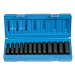 "Grey Pneumatic 13 Piece 3/8"" Drive 12 Point Deep Metric Impact Socket Set GRE1203MD"