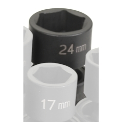 "Grey Pneumatic 1/2"" Drive 24mm Metric Universal Impact Socket GRE2024UM"