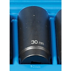 "Grey Pneumatic 1/2"" Drive 30mm 12 Point Deep Metric Impact Socket GRE2130MD"