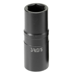 "Grey Pneumatic 1/2"" Drive 3/4"" x 13/16"" Thin Wall ""Flip"" Socket GRE2346D"