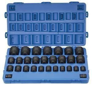 "Grey Pneumatic 3/4"" Drive 29 Piece 6 Point Fractional Master Impact Socket Set GRE8029"