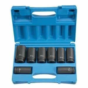 "Grey Pneumatic 3/4"" Drive 8 Piece 6 Point Deep Metric Impact Socket Set GRE8134MD"