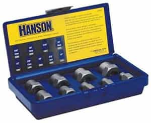 Hanson 9 Piece Fractional Bolt Extractor Set HAN54009