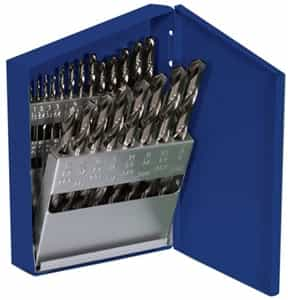 Hanson 21 Piece Cobalt High Speed Steel Drill Bit Set HAN63221