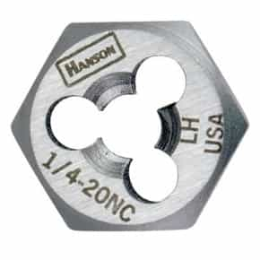 "Hanson 7/8"" - 14 NF High Carbon Steel Re-threading Right Hand Hexagon Fractional Die HAN7263"