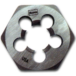 "Hanson High Carbon Steel Hexagon 1"" Across Flat Die 4mm-0.75 HAN9718"