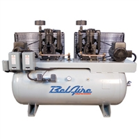 BelAire 6320D4 2 x 10HP 200G Iron Series Three Phase Electric Duplex Air Compressor P/N 8090253447