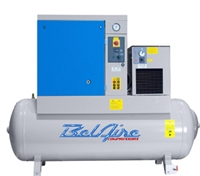 BelAire BR10253D 10HP 120G 128/150psi Three Phase Belt Drive Rotary Screw Air Compressor w/Dryer P/N 4152011816