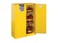 Justrite 894520 Sure-Grip® EX Flammable Safety Cabinet, Cap. 45 Gallons w/Self Closing Doors - JUS-894520