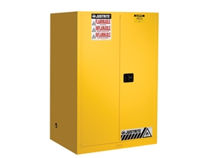 Justrite 894500 Sure-Grip® EX Flammable Safety Cabinet, Cap. 45 Gallons w/Manual Closing Doors - JUS-894500