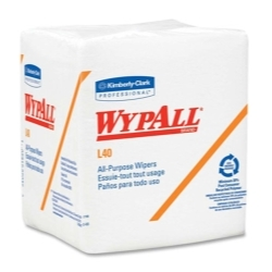 Kimberly Clark Wypall® L40 White Quarterfold Wipers KIM05701