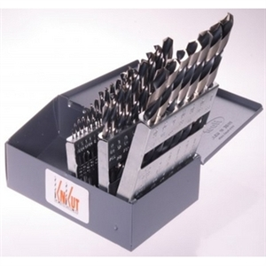 "R W Thompson Inc 29 Piece Drill Bit Buddy 1/16""-1/2"" by 64th with 3/8"" Shank KNK29KK38DB"