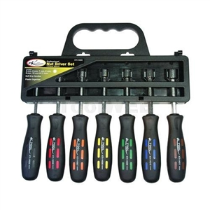 K Tool International 7 Piece Professional Series Metric Nut Driver Set KTI14500