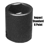 K Tool International 1/2in. Drive 1in. Standard 6 Point Impact Socket KTI33132