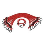 "K Tool International 13/32"" X 48"" 10/pk Heavy Duty Bungee Cord KTI73834"