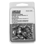 "Lincoln 1/8"" Pipe Thread FTG 45 Angle Grease Fittings Card of (10) LIN5290"