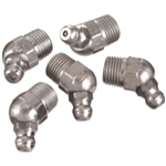 "Lincoln 1/4"" - 28 Taper Short Thread 45 Degree Angle Grease Fittings -Card of 10 LIN5291"