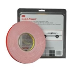 "3M™ 1/2"" x 20 yds. Automotive Acrylic Plus Attachment Tape, Black MMM6382"
