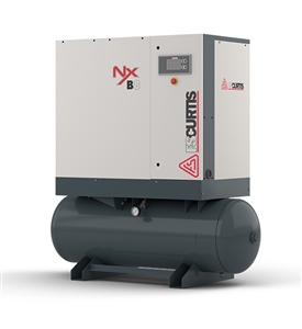 FS-Curtis NxB04 5HP Rotary Screw Air Compressor w/Fixed Speed Tank Mounted Available with 230V 1PH, 230V 3PH, 460V 3PH,(100 PSI / 22 CFM, 125 PSI / 20 CFM , 150 PSI / 17 CFM, 175 PSI / 15 CFM)