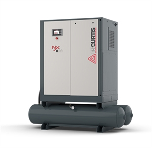 FS-Curtis NxB18 25HP 120G Rotary Screw Air Compressor w/Fixed Speed Tank Mounted with 230V & 460V (100 PSI / 114 CFM, 125 PSI / 100 CFM, 150 PSI / 92 CFM, 175 PSI / 84 CFM Available)