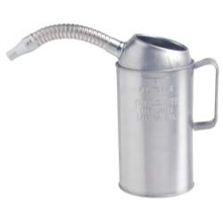 Plews Liquid 4 Quart Galvanized Steel Measure with Flexible Spout PLW75-444