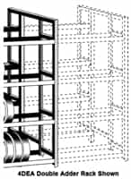 WPSS RiveTier® I 4SEA Single 4 Tier Adder Rack - 4 Shelves