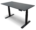 "Luxor STANDE-60-BK/BO 60"" Electric Standing Desk w/Black Frame & Black Top"