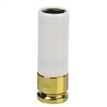 "Sunex 1/2"" Drive 19mm Yellow Extra Thin Wall Wheel Protector Impact Socket - SUN284919"
