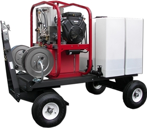 Hot2Go® TSKDT / T185TWH / SK40004HH 4000/3.5 Pressure Washer & 200 Gallon Tow & Stow Package (Gas - Hot Water)