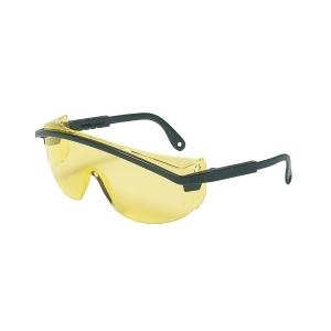 Uvex Astrospec 3000® Black Frame Safety Glasses with Amber Lens UVXS145